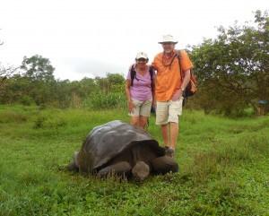 Us with tortoise