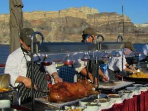 Buffet in Santorini.