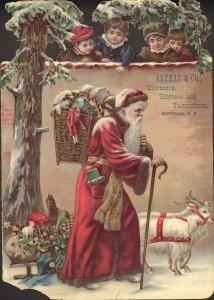 Santa with Goats.