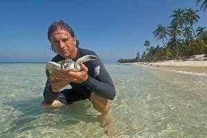 Nichols and Sea Turtle