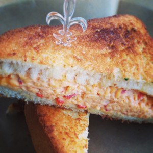 Maardi Gras with a Pimento Cheese Sandwich
