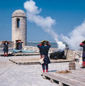 Castillo de San Marcos - Cannon firing re-enactment (photo courtesy of FloridsHistoricCoast.com)