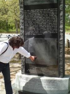 Russ McCabe explains the Captain John Smith Monument