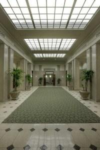 Beautiful Hallways to the Hampton Inns Rooms.