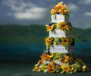 duPont Hotel Wedding Cake