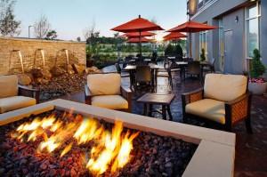 Springhill Suites patio.