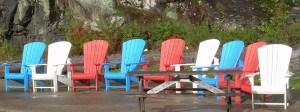 Muskoka chairs in Port Carling  photo by Arnold Berke