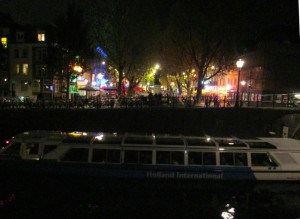 Canal Houses at nigh.