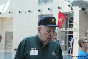 Veteran Marine who volunteers  sharing his stories.
