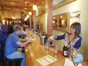Sampling wine at Casa Barranca