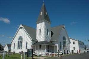Swain's Methodist Church is a town focal point.