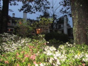 """The Historic Rose Hill Estate with massive gardens, a beautiful Inn and fine restaurant """"The Stables"""" in Aiken."""