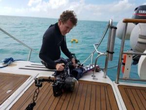 Artist Mark Lee Koven aboard ARTSail