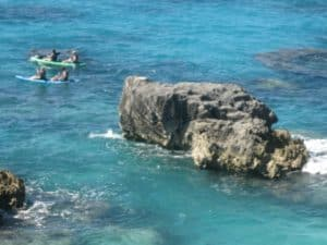 Kayaking off The Reefs Beach