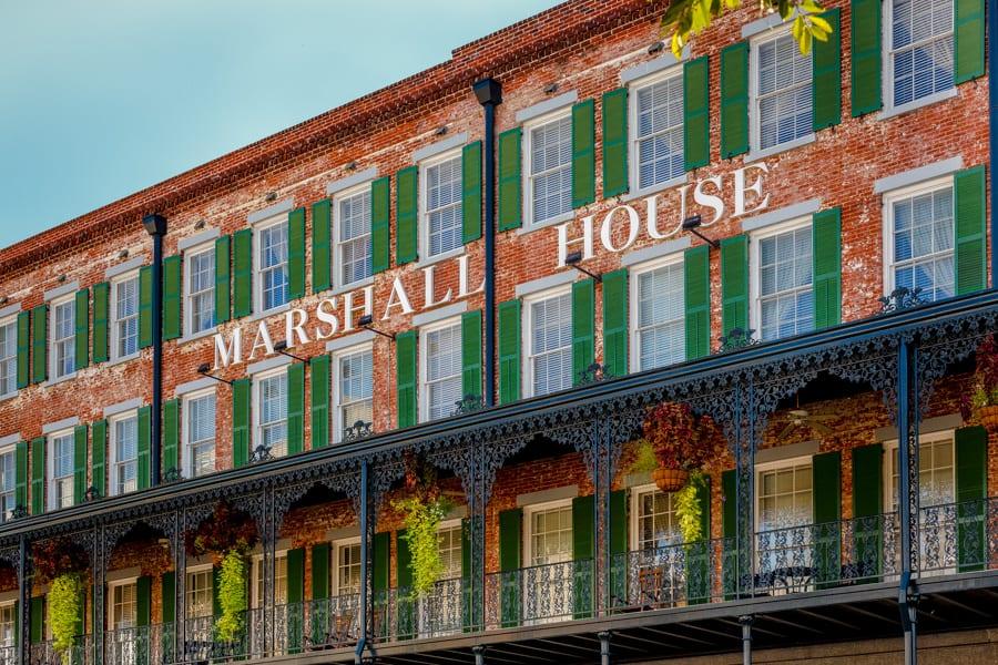 Savannah's #1 Hotel . The Marshall House ideally located on Broughton St